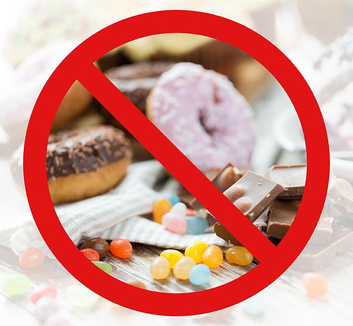 Запрещенные продукты при бессахарной диете